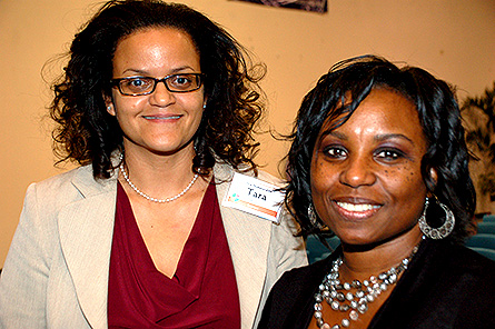 (L to R) Minister Tara Rivers and key note speaker Dr. Camille Alleyne. Photo courtesy of GIS Marketing & Communications