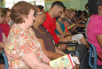 Teachers in attendance at the Annual Education Professionals' Welcome heard more about the ministries' priorities and goals for the new school year.