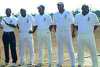 Players of the Cayman Islands Prison's Cricket team